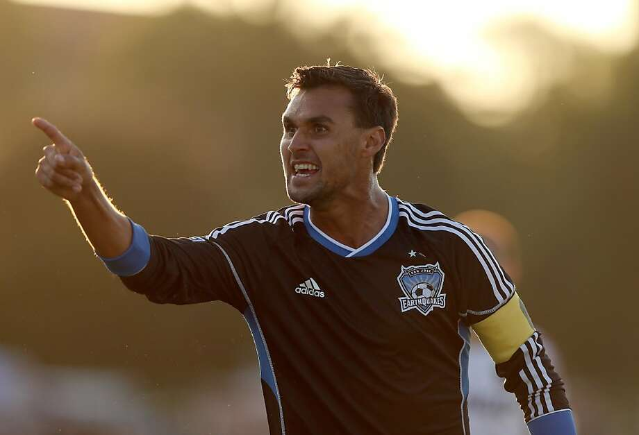 SANTA CLARA, CA - JULY 14:  Chris Wondolowski #8 of the San Jose Earthquakes argues a call during their game against Real Salt Lake at Buck Shaw Stadium on July 14, 2012 in Santa Clara, California.  (Photo by Ezra Shaw/Getty Images) Photo: Ezra Shaw, Getty Images