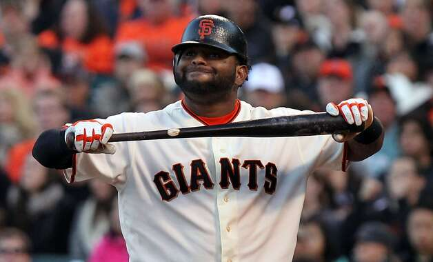 San Francisco Giants Pablo Sandoval reacts after striking out in the fifth inning of their MLB baseball game against the Houston Astros in San Francisco Calif., Saturday, July 14, 2012. Photo: Lance Iversen, The Chronicle