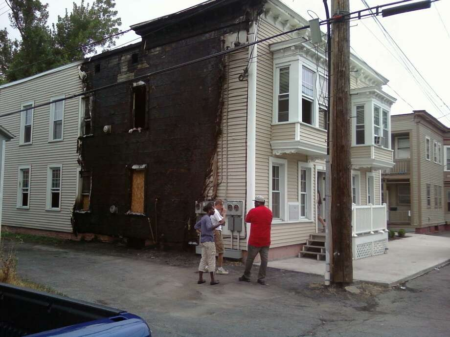 The site of a suspected arson at 22 118th Street in Troy Sunday, July 15, 2012. (Lauren Stanforth, Staff writer) / Copyright.LG Electronics Inc.