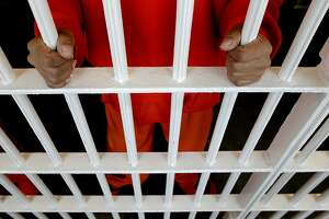 An inmate inside a cell, inside the San Francisco County Jail facility located at the Hall of Justice building, in San Francisco, Calif. on Thursday July 12, 2012. Unlike many counties, San Francisco's County Jail population was low before realignment and remains low after. Many inmates were moved from state prisons to county jails throughout California, to battle overcrowding in the state facilities.