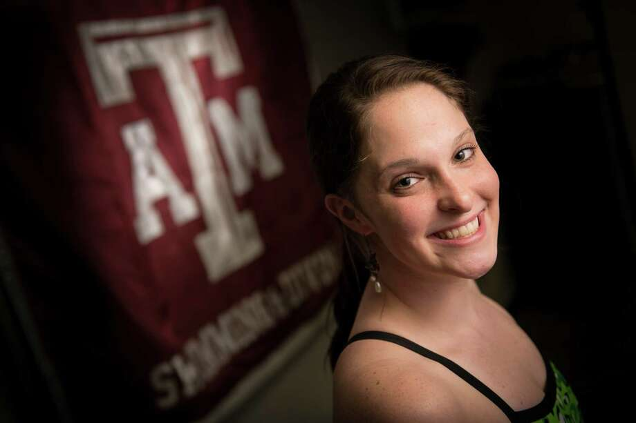Cammile Adams, from Cypress, is one of the first two Aggies swimmers to qualify for the U.S. Olympic team in an individual event. Photo: Smiley N. Pool, Houston Chronicle / © 2012  Houston Chronicle