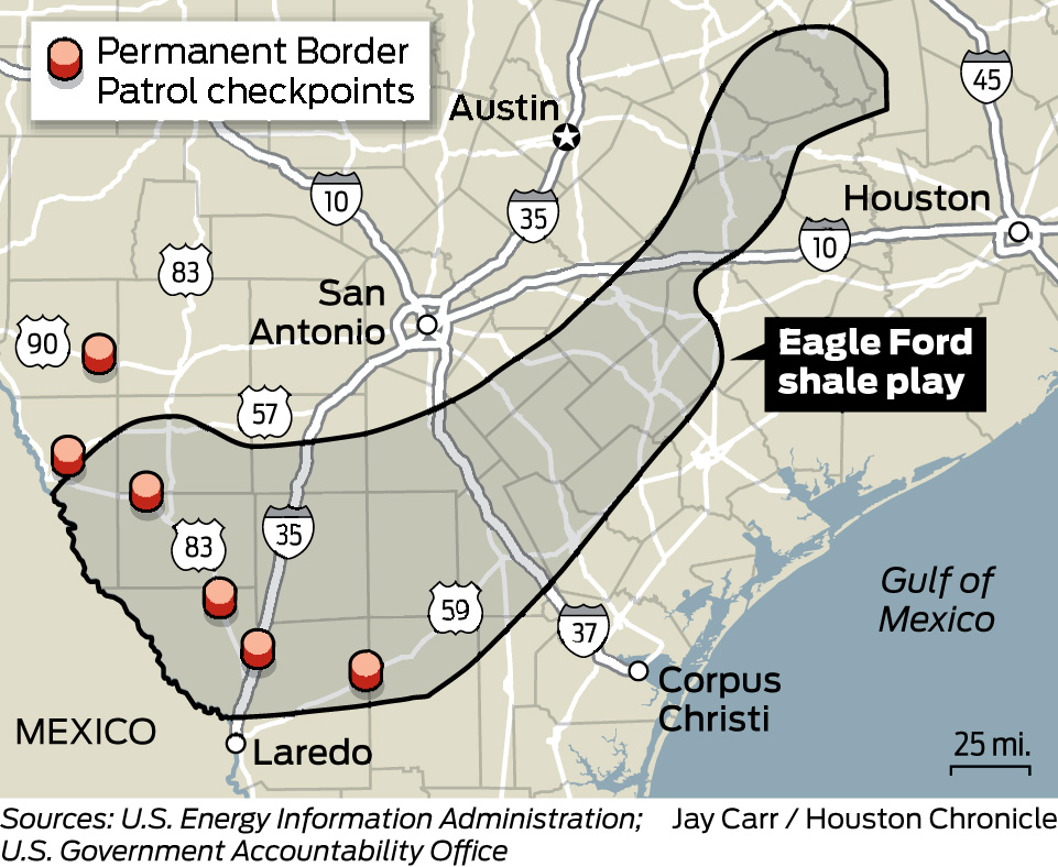 Gas Drilling A Boom For Drug Traffickers Too Houston Chronicle - Us checkpoints map