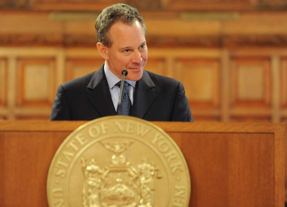 Attorney General Eric T. Schneiderman speaks during Law Day being observed at the New York State Court of Appeals Tuesday, May 1, 2012 in Albany, N.Y. (Lori Van Buren / Times Union) Photo: Lori Van Buren