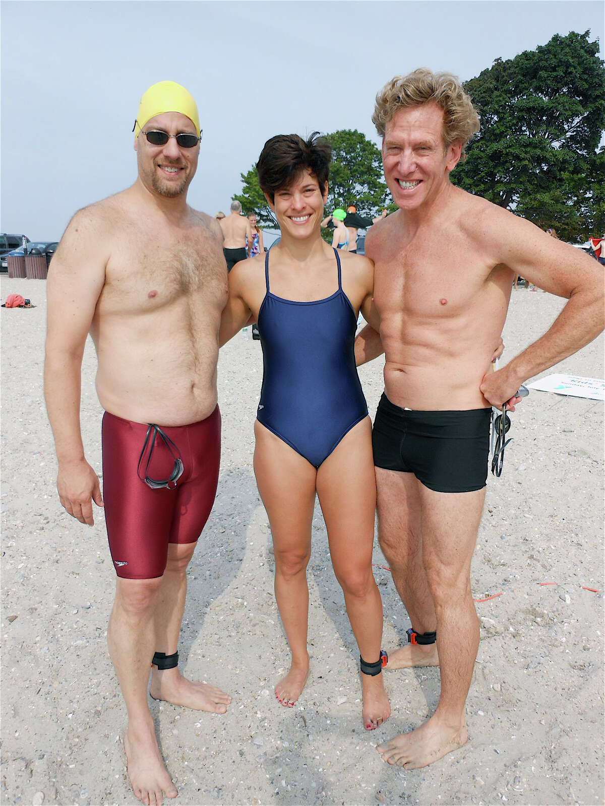 Point to Point swimmers Sunday included Jason Troiano, Bedford Hills, N.Y.; Jennifer Madonia, Oxford, and Tom Coffey, Trumbull.