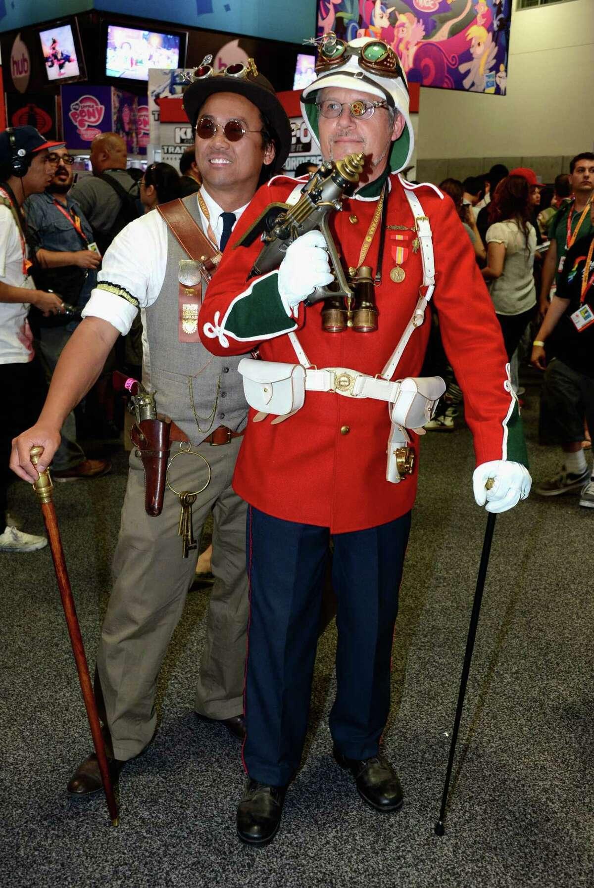 Guests attend Comic-Con International 2012 at San Diego Convention Center on Sunday. (Photo by Frazer Harrison/Getty Images)