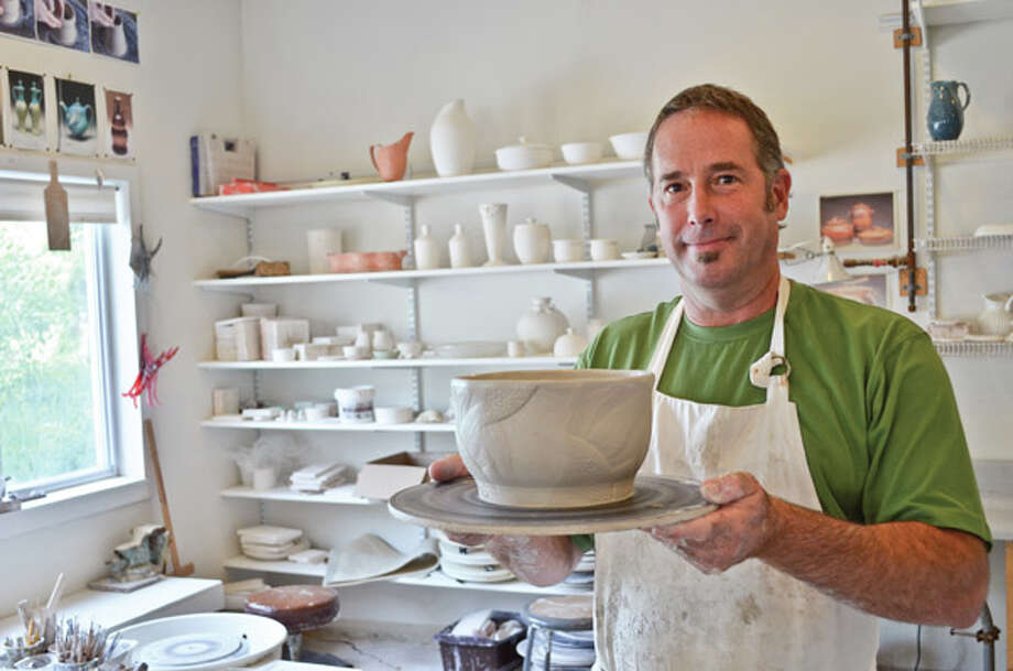 Artisan Doug Klein says texture, pattern, and rhythm are at the heart of both his passions: creating textured clay pottery by day and music by night. Read the full story here. Photo: Photos By Tyler Murphy/Life@Home