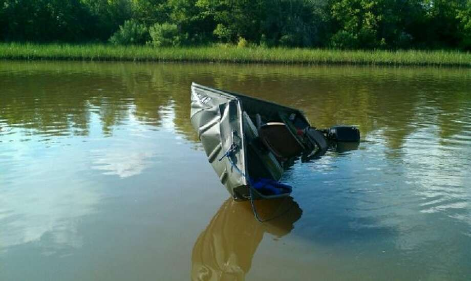The U.S. Coast Guard suspended a search for a 34-year-old boater Sunday, a day after a much larger motorized vessel collided with his tiny fishing boat in Baytown's Cedar Bayou and then quickly sped away. (U.S. Coast Guard)