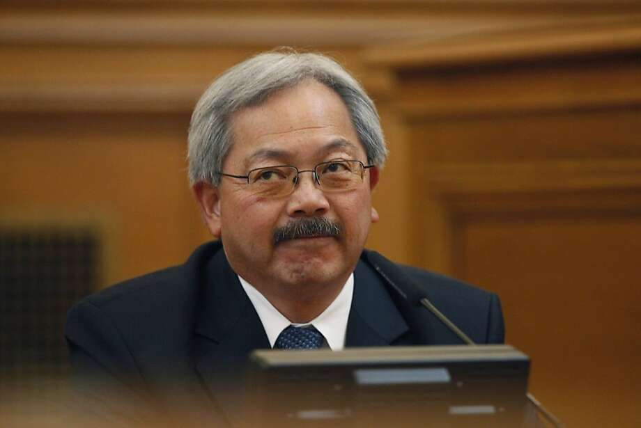 Mayor Ed Lee testifies before the Ethics Commission during suspended Sheriff Ross Mirkarimi's official misconduct hearing at City Hall in June. Photo: Lea Suzuki, The Chronicle