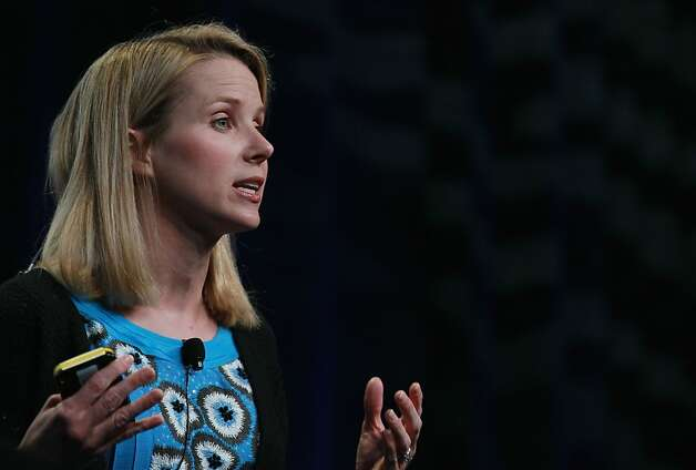 Google Vice President Marissa Mayer speaks during an announcement Sept. 8, 2010 in San Francisco. Mayer announced she will become Yahoo's next CEO on Monday, July 16, 2012. Photo: Justin Sullivan, Getty Images