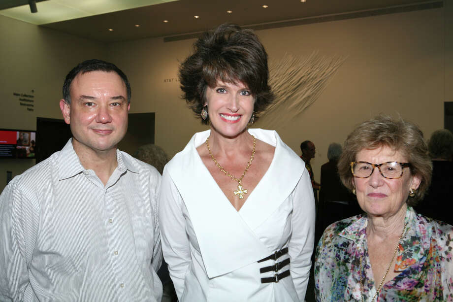 Rene P. Barilleaux, Chief Curator, Curator of Art after 1945, from left, and supporters Melissa Grobmyer and Marge Miller gather at the 2012 Houston Fine Art Fair reception at the McNay Art Museum on July 10. Photo: LELAND A. OUTZ, FREELANCER / SAN ANTONIO EXPRESS-NEWS