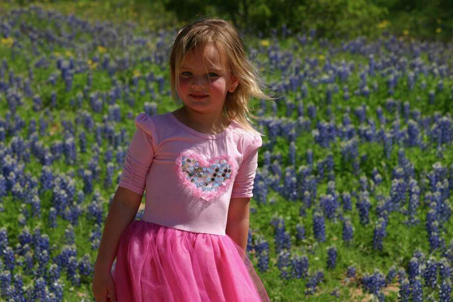 Aubree in the bluebonnets