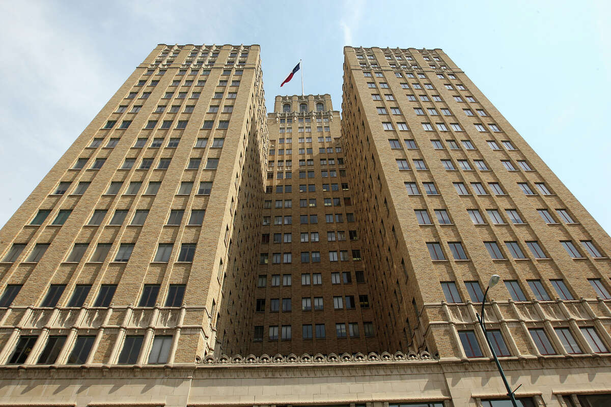 The Milam Building, at 115 E. Travis St., was the first air-conditioned high-rise office building in the U.S.