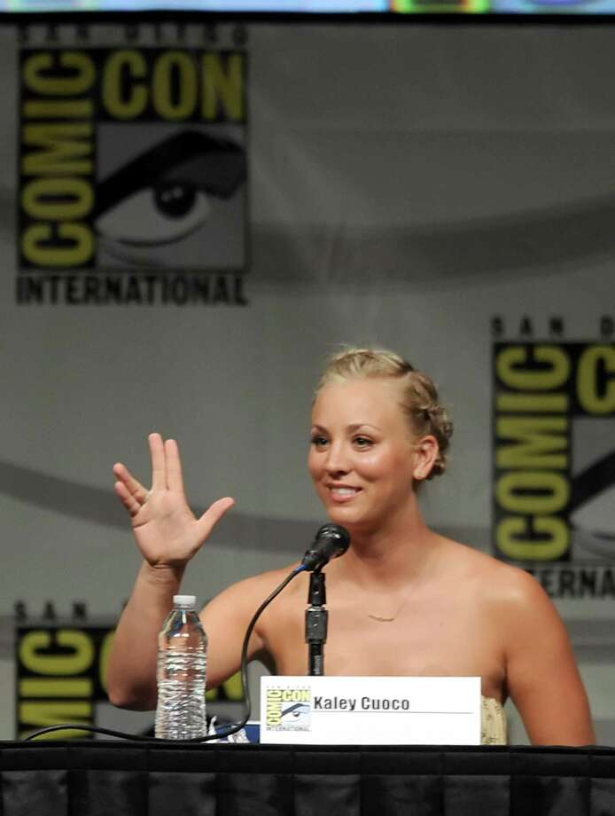 "SAN DIEGO, CA - JULY 13:  Actress Kaley Cuoco speaks at the ""The Big Bang Theory"" panel during Comic-Con International 2012 at San Diego Convention Center on July 13, 2012 in San Diego, California. Photo: Kevin Winter, Getty Images / 2012 Getty Images"