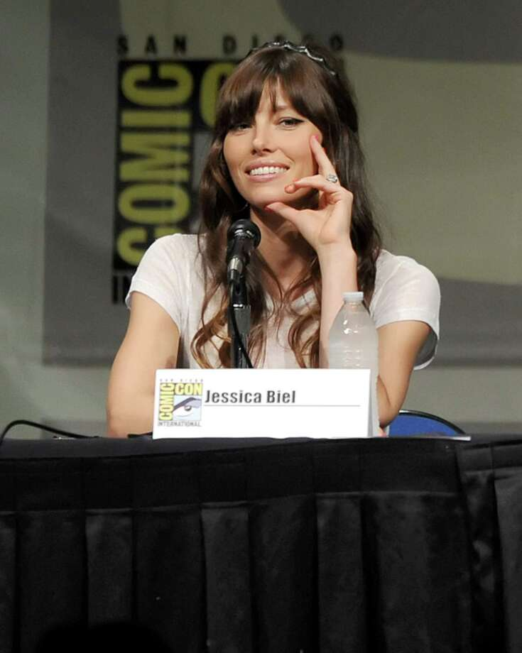 "SAN DIEGO, CA - JULY 13:  Actress Jessica Biel speaks during Sony's ""Total Recall"" panel during Comic-Con International 2012 at San Diego Convention Center on July 13, 2012 in San Diego, California. Photo: Kevin Winter, Getty Images / 2012 Getty Images"