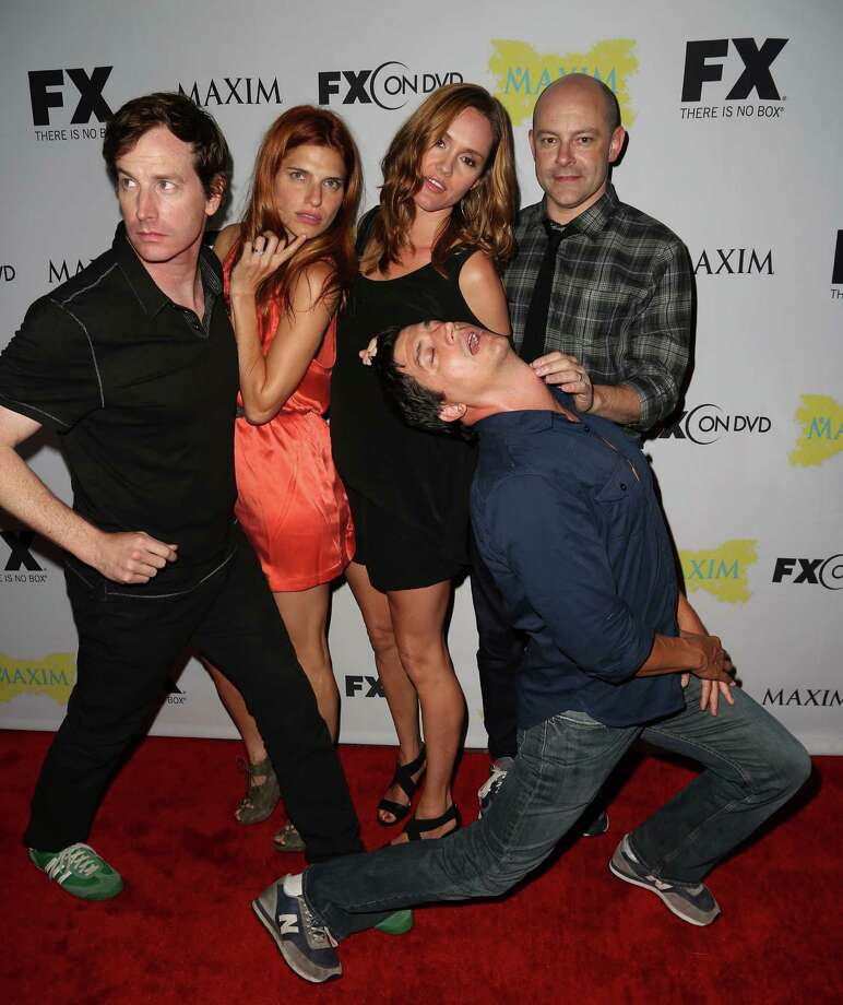 SAN DIEGO, CA - JULY 13:  Actors Rob Huebel, Lake Bell, Erinn Hayes, Rob Corddry, and Ken Marino attend the Maxim, FX and Fox Home Entertainment Comic-Con Party at Andaz on July 13, 2012 in San Diego, California. Photo: Chelsea Lauren, Getty Images For Maxim / 2012 Getty Images