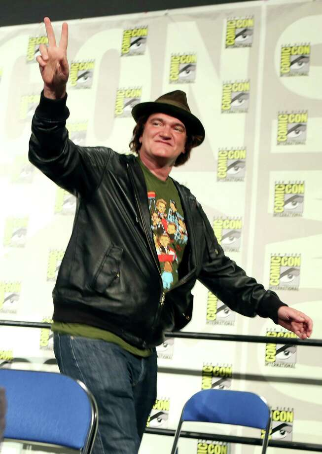 SAN DIEGO, CA - JULY 14:  Director Quentin Tarantino makes surprise announcement of Django Unchained 5 issue comic book mini-series at the DC Entertainment Before Watchmen Panel on Saturday at San Diego Comic-Con International 2012 at San Diego Convention Center on July 14, 2012 in San Diego, California. Photo: Christopher Polk, Getty Images / 2012 Getty Images