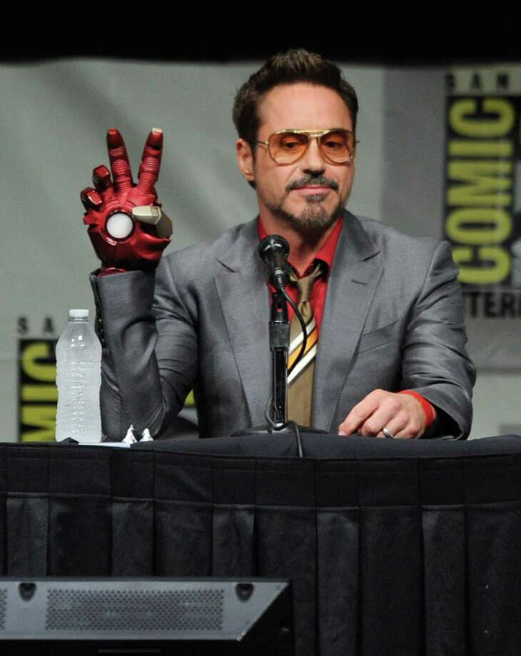 "SAN DIEGO, CA - JULY 14:  Actor Robert Downey Jr. speaks at Marvel Studios ""Iron Man 3"" panel during Comic-Con International 2012 at San Diego Convention Center on July 14, 2012 in San Diego, California. Photo: Kevin Winter, Getty Images / 2012 Getty Images"