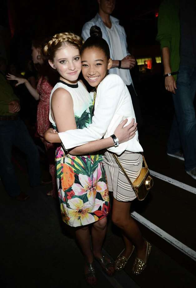 SAN DIEGO, CA - JULY 14:  Actresses Willow Shields (L) and Amandla Stenberg attend Entertainment Weekly's 6th Annual Comic-Con Celebration sponsored by Just Dance 4 held at the Hard Rock Hotel San Diego on July 14, 2012 in San Diego, California. Photo: Michael Buckner, Getty Images For Entertainment W / 2012 Getty Images