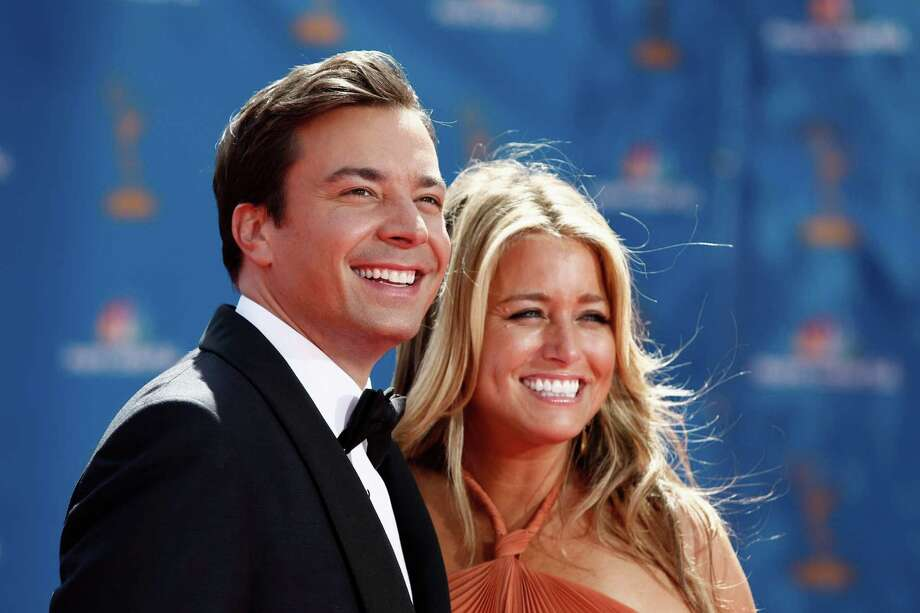 Jimmy Fallon met Nancy Juvonen in 2005 during the filming of Fever Pitch, which she co-produced. The two were married in 2007. Photo: Matt Sayles, AP / AP