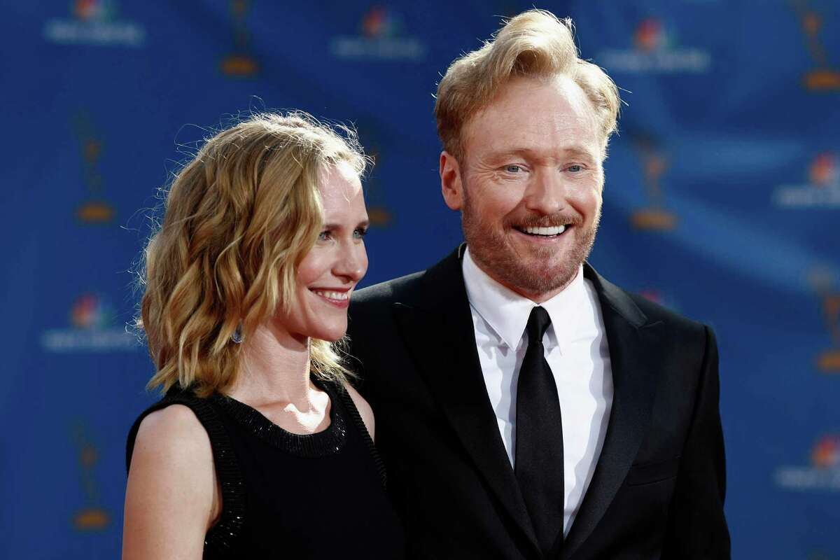 Conan O'Brien said he fell in love with his wife Liza Powel on camera during a taping of his show.