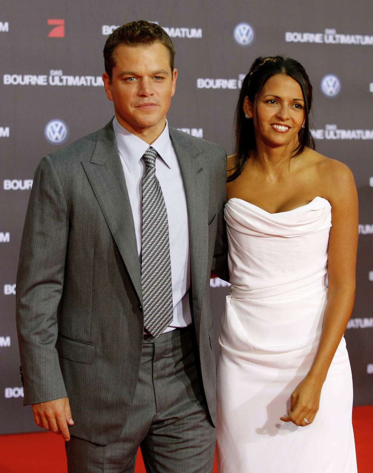 """Matt Damon met his wife Luciana Barrroso while hiding in a bar in 2002. So what's it like for a celebrity to be married to a not so famous person? For Damon, it's perfect. He doesn't have to deal with the attention. """"I got lucky. I fell in love with a civilian,"""" he recently told Esquire magazine. """"Not an actress and not a famous actress at that. Because then the attention doesn't double - it grows exponentially. Because then suddenly everybody wants to be in your bedroom."""""""