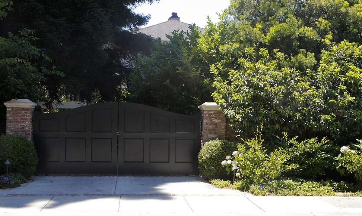 The outside of billionaire Mark Zuckerberg's home is seen in Palo Alto, Calif. on Monday, July 16, 2012.
