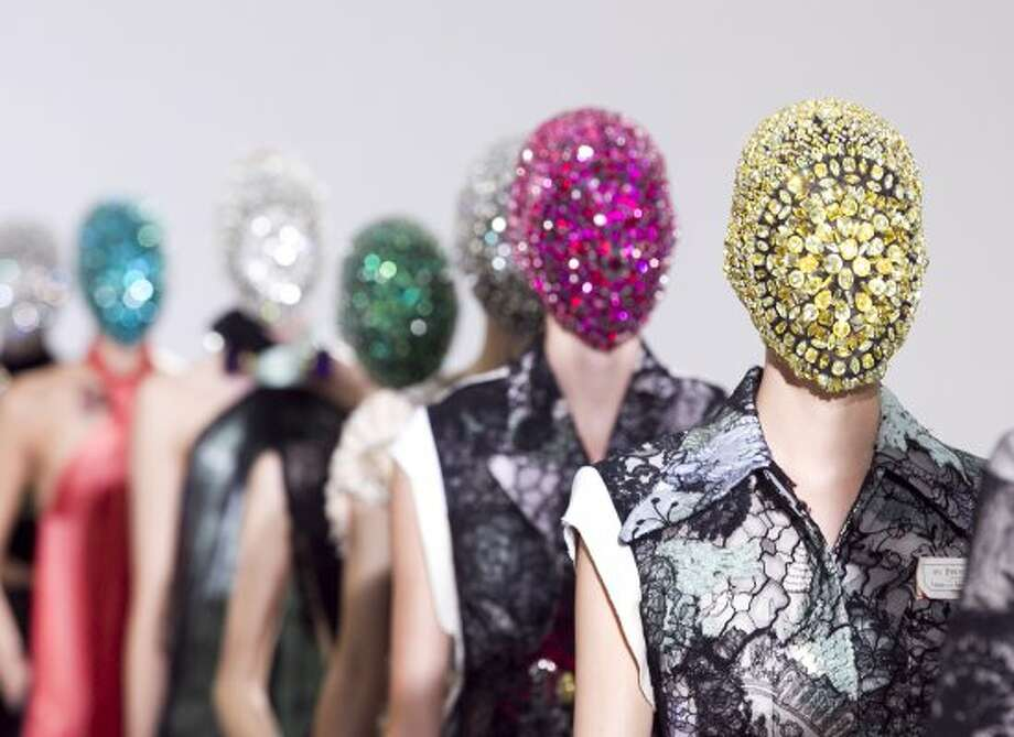 Models wear creations by  Belgian designer Martin Margiela  as part of his presentation for Women's Fall Winter 2012 2013 haute couture fashion collection, for fashion house in Paris, France, Wednesday July 4, 2012. (AP Photo / Jacques Brinon) (AP)