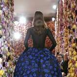 A model presents a creation by Belgian designer Raf Simons for Christian Dior during the Haute Couture Fall-Winter 2012-2013 on July 2, 2012 in Paris. AFP PHOTO / FRANCOIS GUILLOT        (Photo credit should read FRANCOIS GUILLOT/AFP/GettyImages) (AFP/Getty Images)