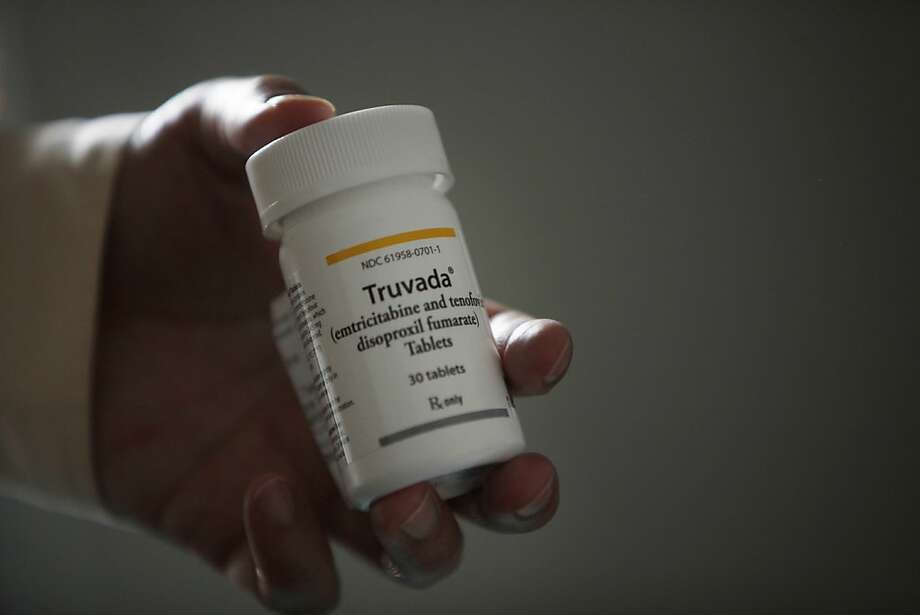 A bottle with a Truvada label is seen in the office of Dr. Albert Liu in San Francisco, Calif. Photo: Lea Suzuki, The Chronicle