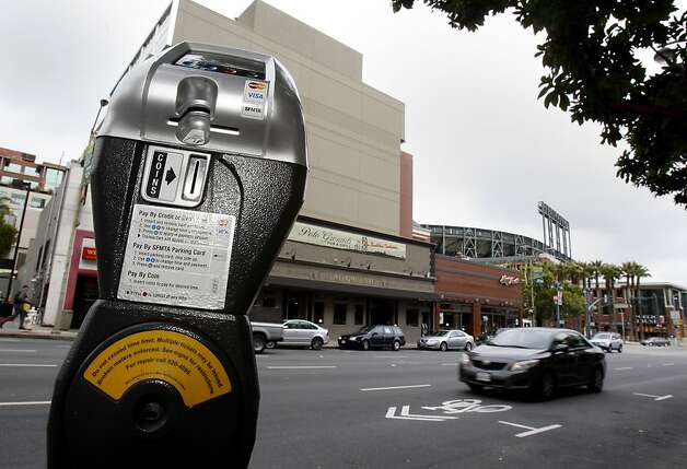This parking area on 3rd Street near King would be very attractive to Giants fans. Parking meters near AT&T park may increase their hours and their hourly rates on special event days if the City of San Francisco gets its way. Photo: Brant Ward, The Chronicle