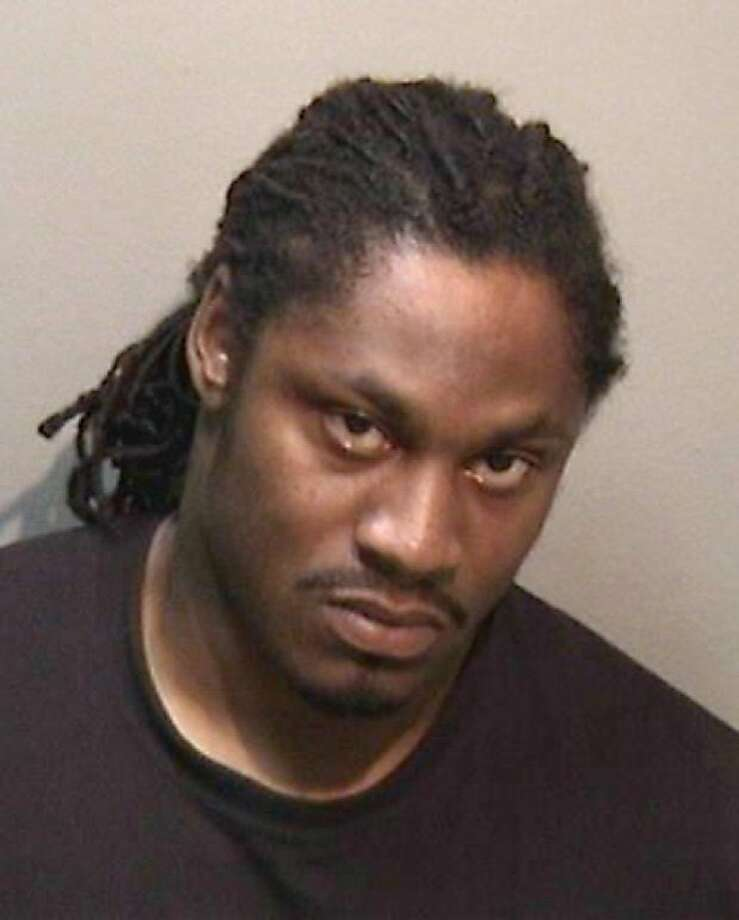 Marshawn Lynch was arrested on suspicion of a DUI on July 14, 2012, in Oakland.