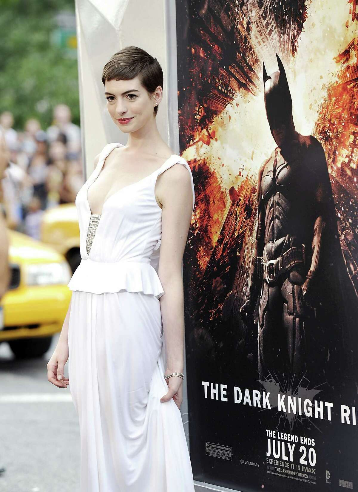 Actress Anne Hathaway attends the world premiere of