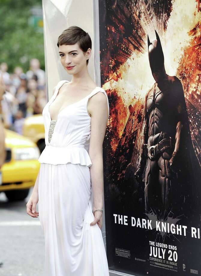 "Actress Anne Hathaway attends the world premiere of ""The Dark Knight Rises"" at the AMC Lincoln Square Theater on Monday July 16, 2012 in New York. (Photo by Evan Agostini/Invision/AP) Photo: Evan Agostini, EVAN AGOSTINI /INVISION/AP / 2012 Invision"