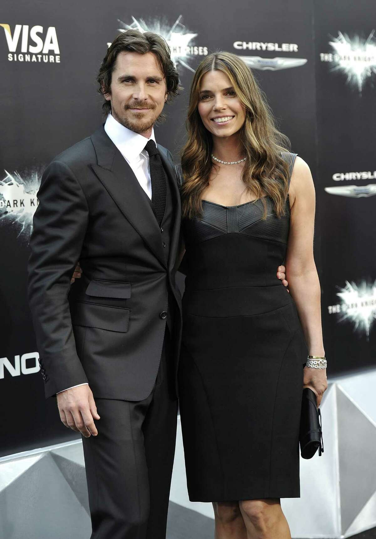 Actor Christian Bale and wife Sibi Blazic attend the world premiere of
