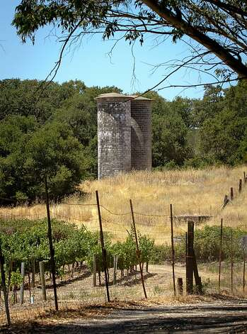 The silos with the vineyard in the foreground at Jack London State Park in Glen Ellen, Calif., is seen on Friday, July 13th, 2012. Photo: John Storey, Special To The Chronicle