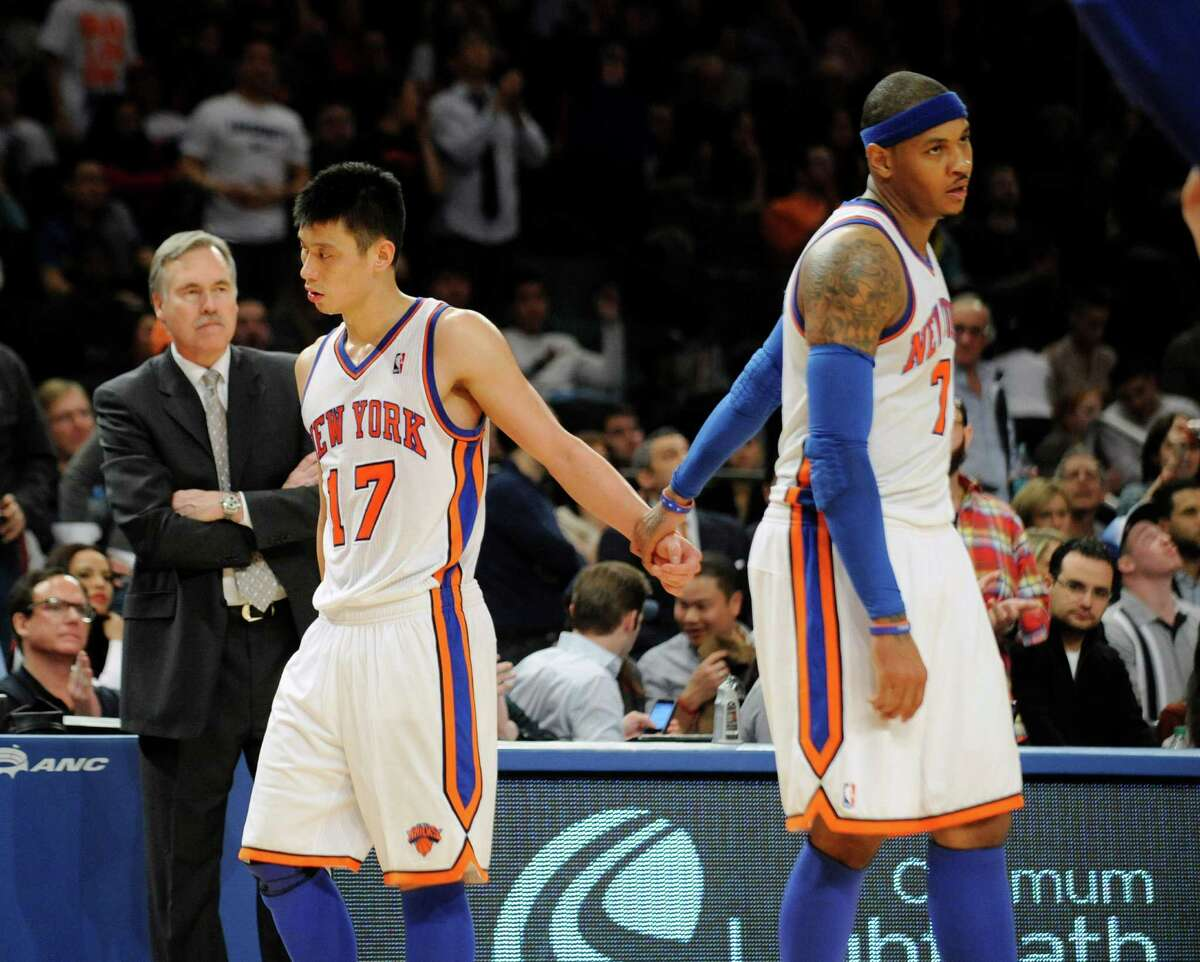 Will Carmelo get along with Rockets' coach Mike D'Antoni? D'Antoni coached Anthony with the Knicks, but resigned mid-season in 2012. Since resigning, D'Antoni has gone on the record to say he was frustrated that Anthony wouldn't accept a role playing power forward that season. D'Antoni told the Houston Chronicle's Jonathan Feigen that he spoke with Anthony and they are on the same page: