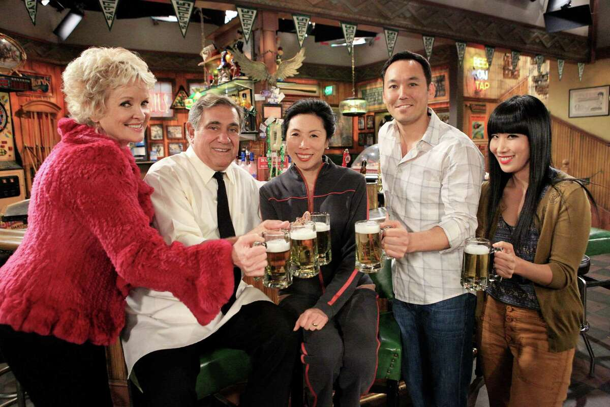 "Christine Ebersole, Dan Lauria, Jodi Long, Steve Byrne and Vivian Bang star in ""Sullivan & Son"""
