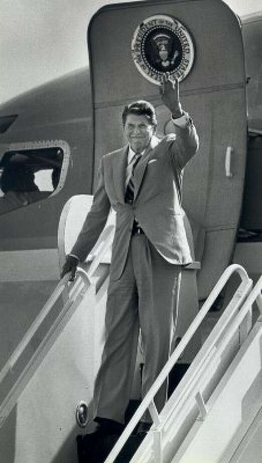 In 1984, President Ronald Reagan was picked by the Express-News editorial board over Walter Mondale. (Express-News file photo)