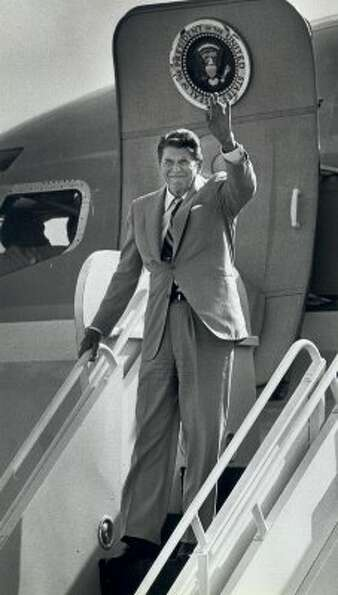 In 1984, President Ronald Reagan was picked by the Express-News editorial board over Walter Monda