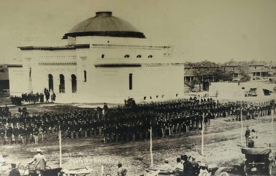 The Ft. Sam Houston Gift Chapel at Fort Sam Houston was dedicated on October 17, 1909 by President William Howard Taft.