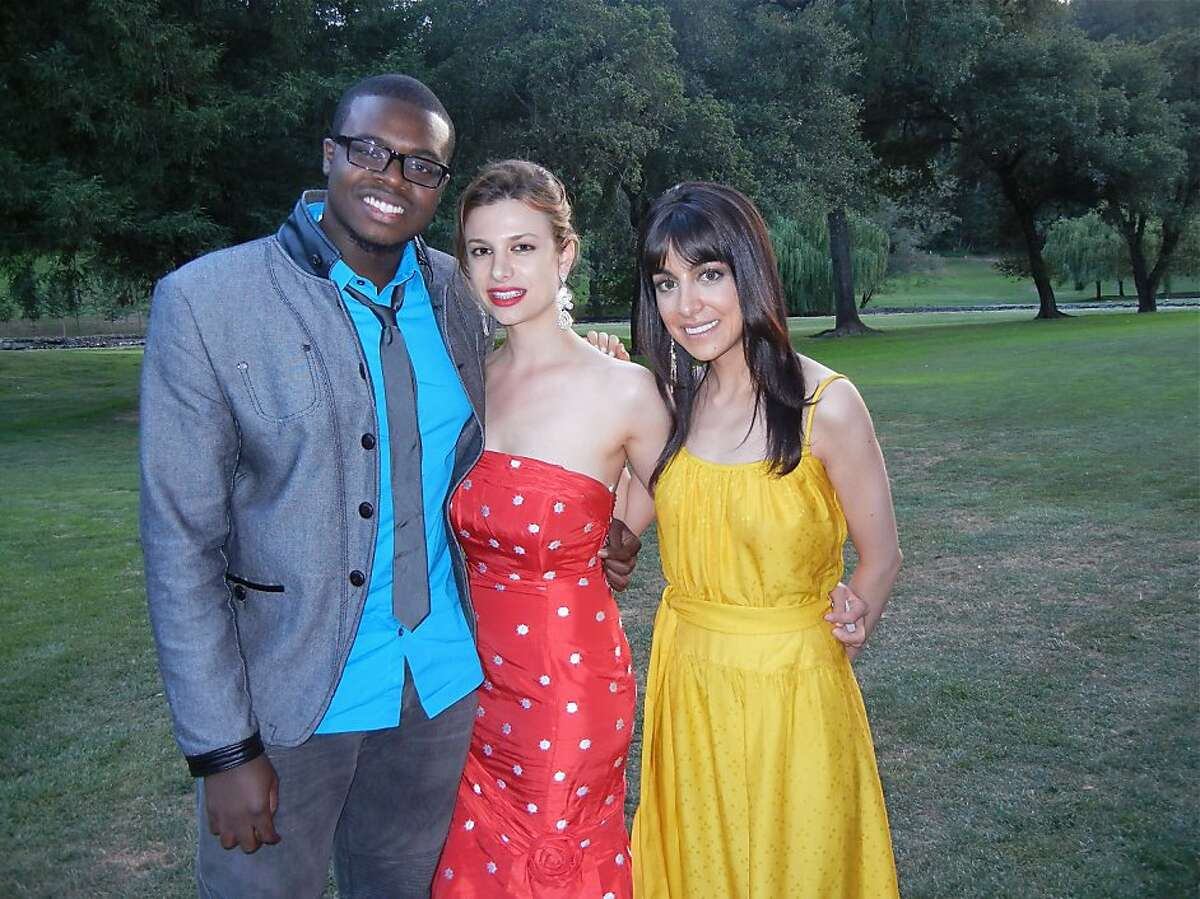 Cellist Kevin Olusola (left) with jazz artist Antoniette Costa and pianist Tara Kamangar at Meadowood during the Festival del Sole Gala. July 2012. By Catherine Bigelow.
