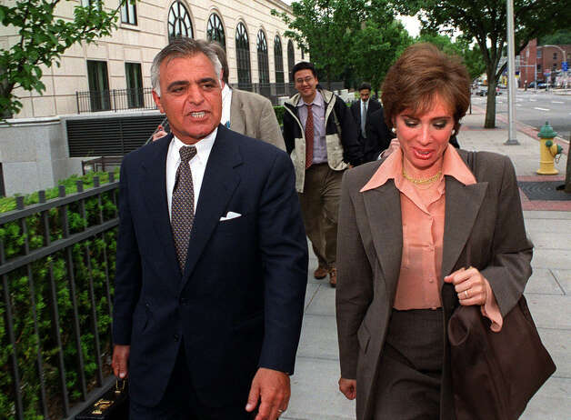 Albert Pirro and his wife, Westchester County District Attorney  Jeanine Pirro, leave court at the end of the day during his federal tax evasion case in White Plains, N.Y., June 19, 2000. (AP Photo/Stephen Chernin) Photo: STEPHEN CHERNIN, ASSOCIATED PRESS / Associated Press