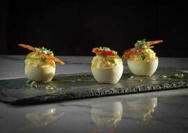 Park Tavern's smoked deviled eggs.