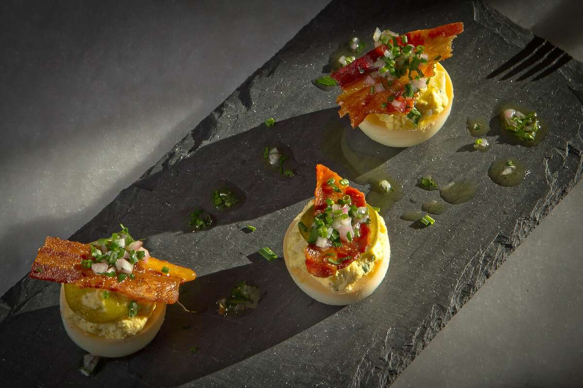 The Smoked Deviled Eggs at Park Tavern Restaurant in San Francisco, Calif., is seen on Sunday, October 23, 2011.