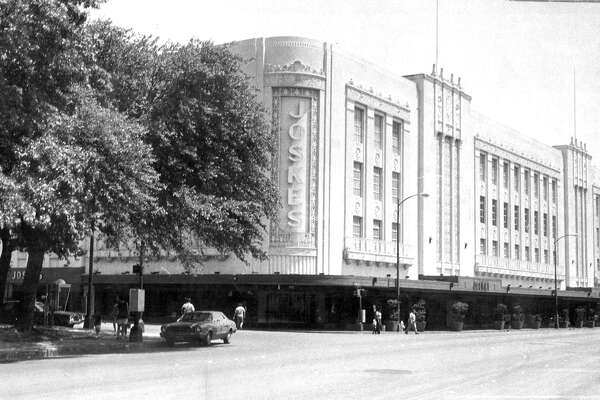 In 1936, department store Joske's became the first fully air-conditioned store in Texas. Photo circa 1970.