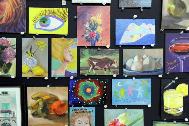 Municipal center in newtown home to summer art exhibit for Small paintings that sell