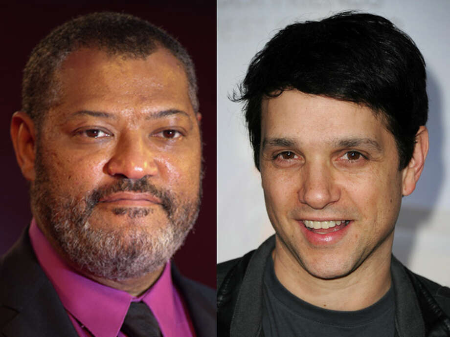 "Laurence Fishburne looks like he's had a tough time in ""The Matrix,"" while Ralph Macchio looks like he hasn't aged a day since the original ""Karate Kid."" They were both born in 1961. Photo: Wire"