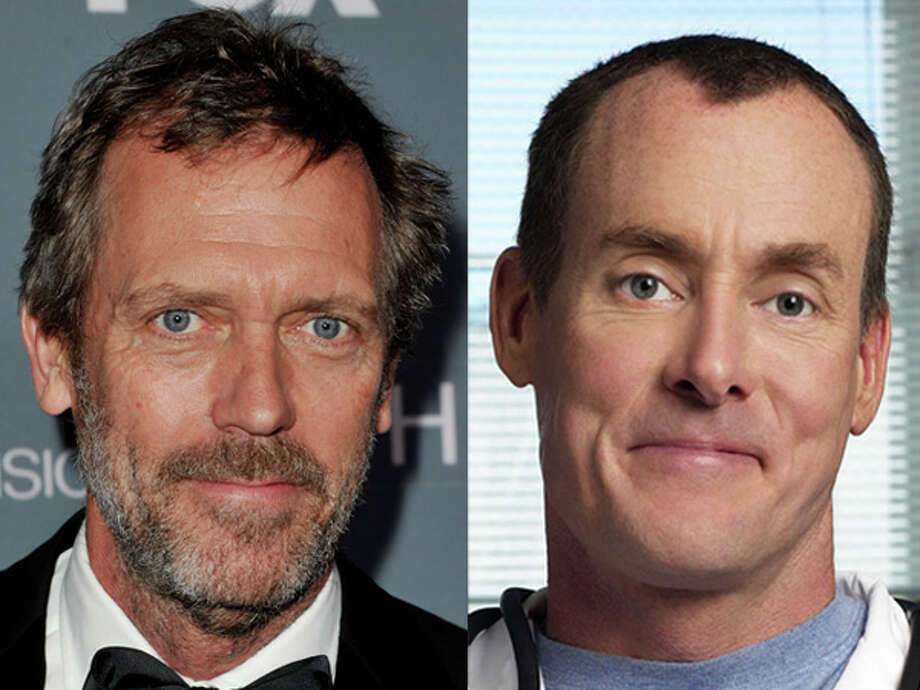"""House"" star Hugh Laurie and ""Scrubs"" curmudgeon John C. McGinley were both born in 1959. Photo: Wire"