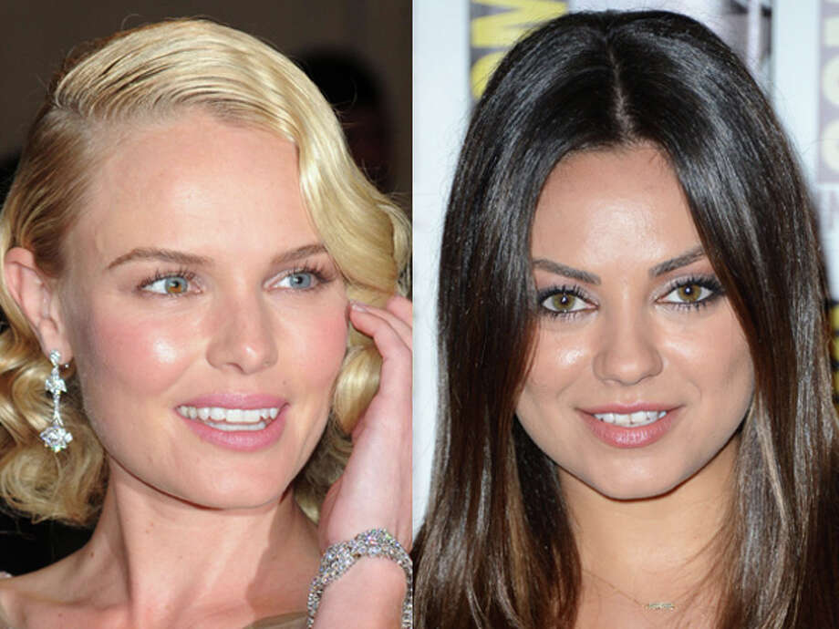 "Hairstyle makes all the difference for ""Superman Returns"" star Kate Bosworth and ""Black Swan"" seductress Mila Kunis. Both were born in 1983. Photo: Wire"