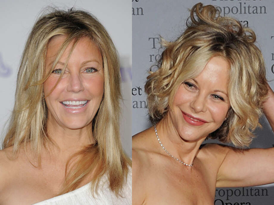 "A bad hair night didn't help ""Melrose Place"" star Heather Locklear, while Meg Ryan looks little different than when she starred in ""Sleepless in Seattle."" Both were born in 1961. Photo: Wire"